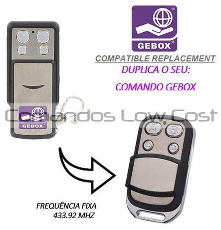 Comando de garagem compatível c/ GEBOX