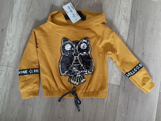 Nowa Bluza Sowa h&m odwracane cekiny
