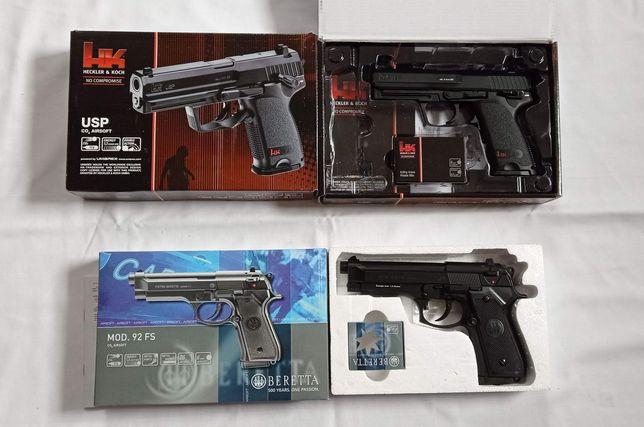 Pistolas de airsoft novo CO2, sem blowback