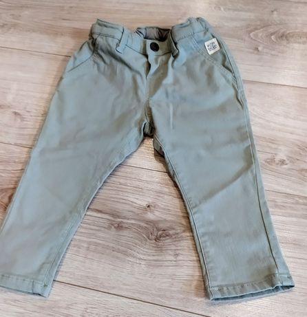 Spodnie jeansy khaki hm 86