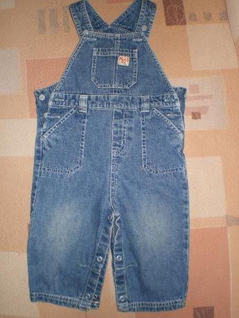 Ogrodniczki jeansowe NEXT r.74-86