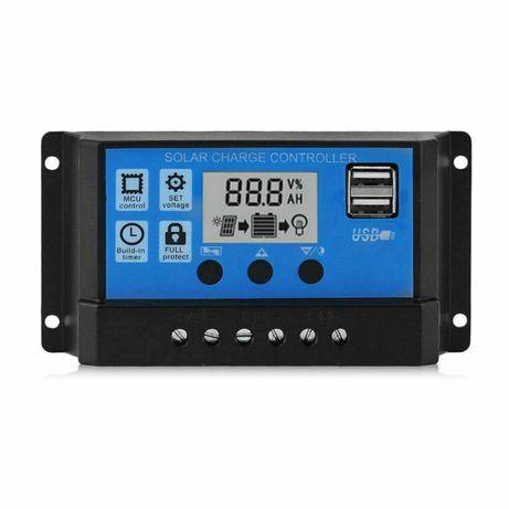 Regulator ładowania 100A LCD + USB do paneli słonecznych