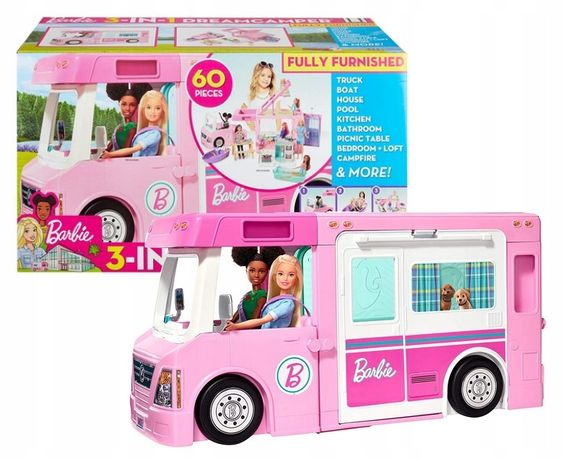 Дом на колесах кемпинг кемпер автобус фургон для Барби Barbie GHL93