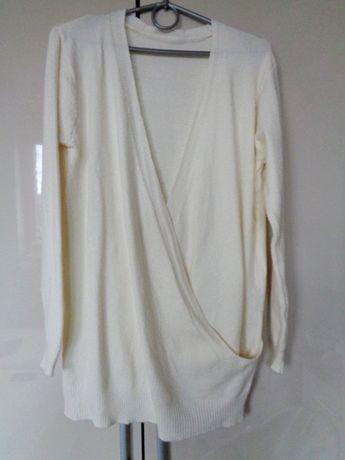 sweter krem przeplatany 48/50