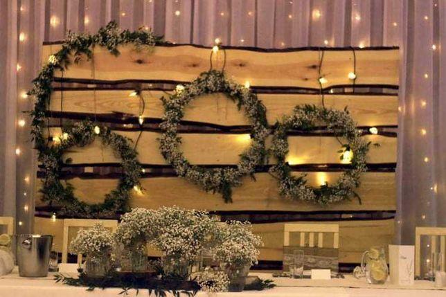 Ścianka ślubna weselna