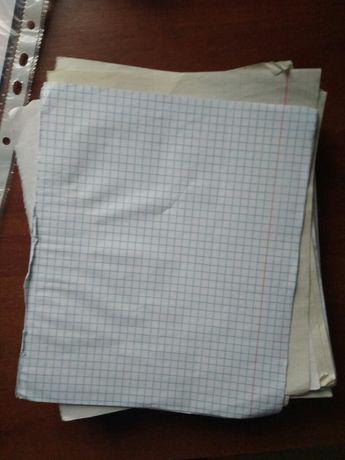 Листы тетрадные в клетку, в линию