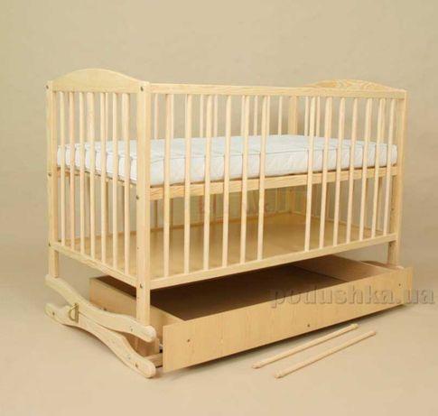 Детская кроватка-люлька на пружине с ящиком
