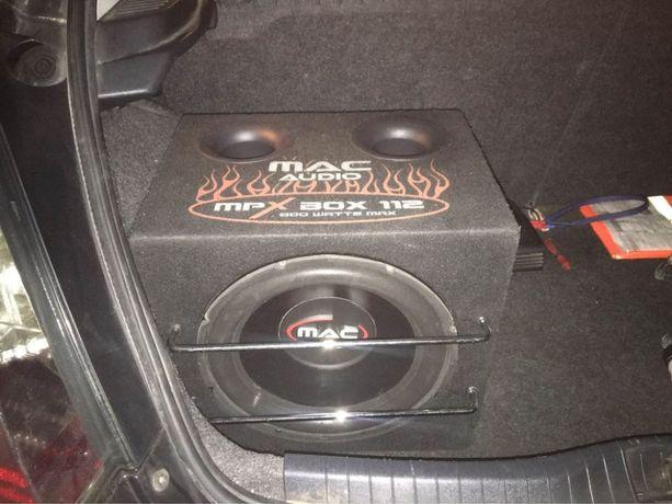 Subwoofer MAC Audio MPX box 112+ wzmacniacz PYLE QA3500 +kondensator