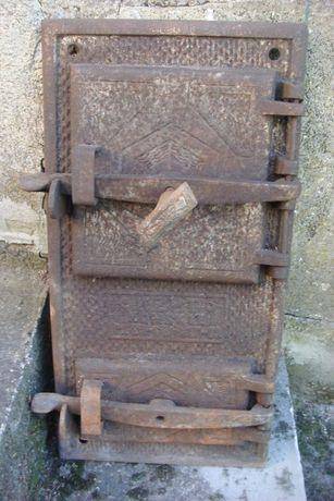 Żeliwne drzwiczki do pieca