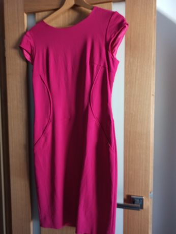 Sukienka Simple 36 fuksja elegancka