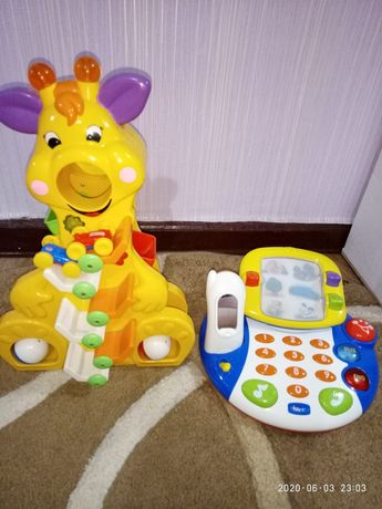 Жираф музыкальный Kiddieland,Chicco телефон.