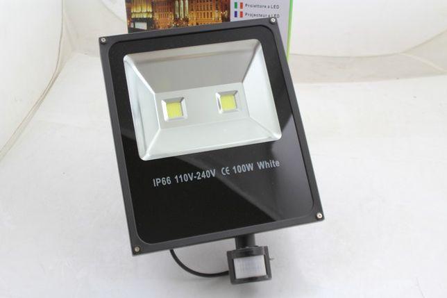 HALOGEN LAMPA NAŚWIETLACZ LED 100W Z czujnik ruchu super sprawa poleca