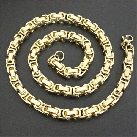 pozłacany łańcuszek+pozłacana bransoletka,14k,585,złoto,cc,KOMPLET,yes