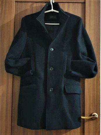 Полупальто мужское черное,шерсть 80%, Selected/ Homme, размер M/46