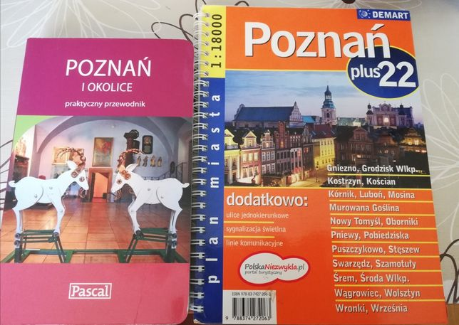 Poznań i okolice przewodnik i mapa