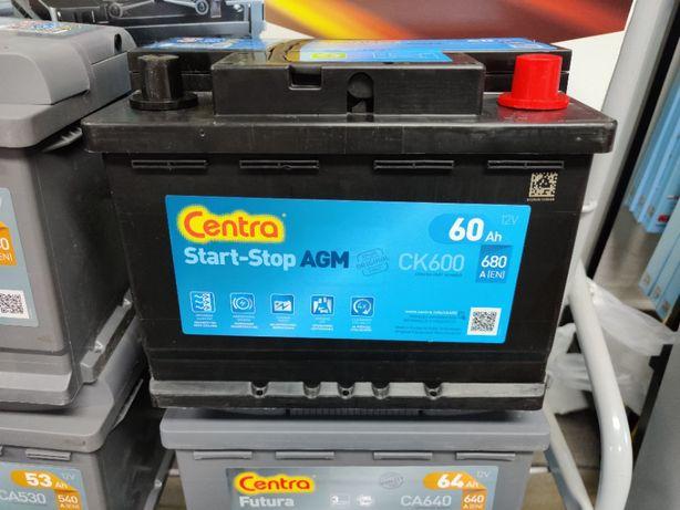 Akumulator Centra Start-Stop AGM CK600 12V 60Ah 680A P+ Krak EK600