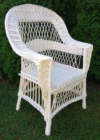 "Fotel wiklinowy ""Bogaty"" ażurowy, h 108 cm, ECRU"