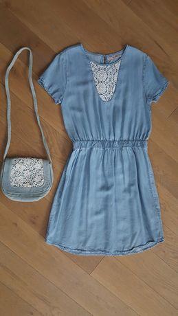 Sukienka 5-10-15, rozmiar 158, 12-13 lat + torebka