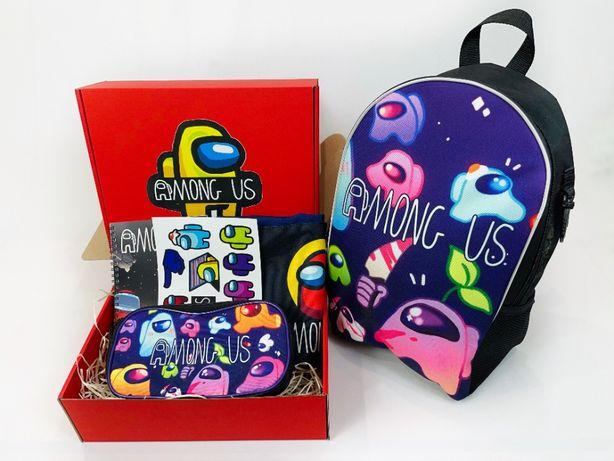 Among Us Школьный набор Рюкзак пенал сумка-мешок Подарочный Бокс Амонг