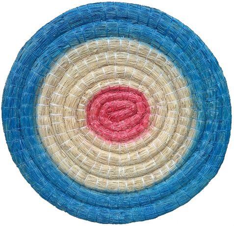 Mata łucznicza słomiana Ø 60 cm malowana, tarcza łucznicza