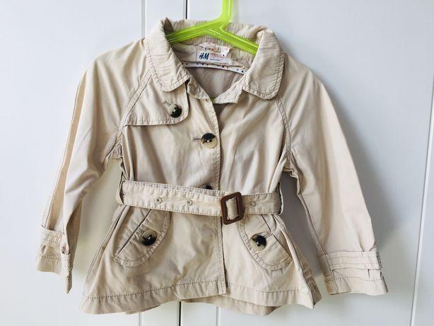 H&M r.98 płaszcz wiosenny kurtka przejściowa trencz.Stan bdb.