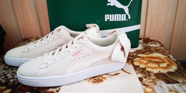 Buty sportowe Puma Suade Bow Beżowe rozm. 37 damskie