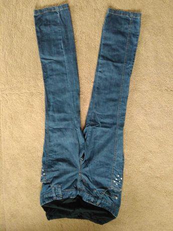 Dżinsy ciążowe, spodnie, rozmiar 36, z dżetami