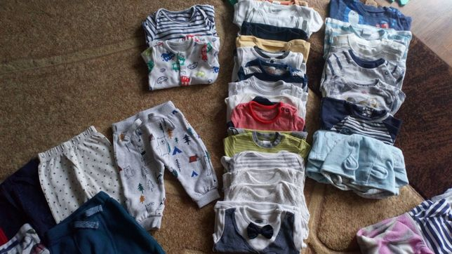 Pajace, body, bluzki 68