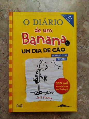 """""""Diário de um Banana 4: Um dia de Cão"""" de Jeff Kinney"""