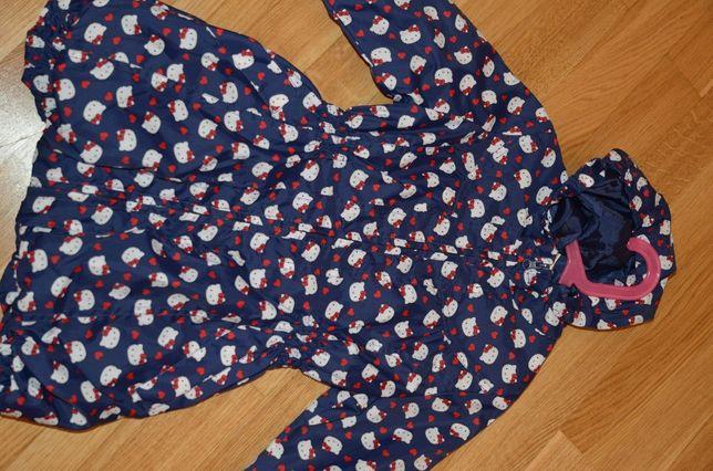 Płaszczyk płaszcz przeciwdeszczowy dziewczęcy nowy-zestaw