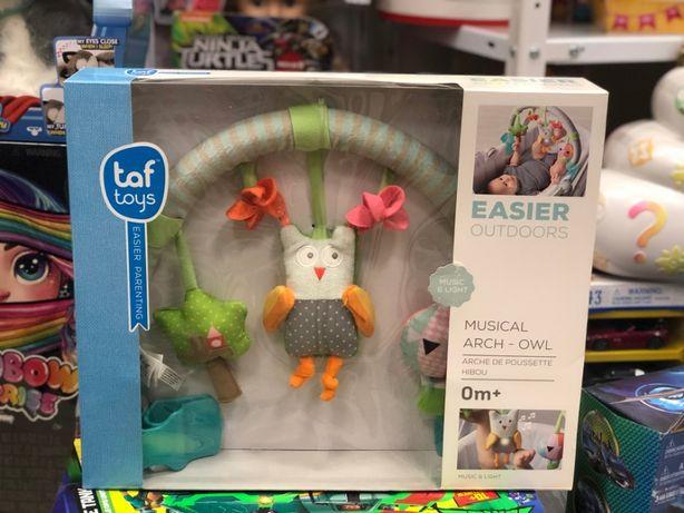 Музыкальная дуга для коляски со светом - Лесная сова Taf Toys