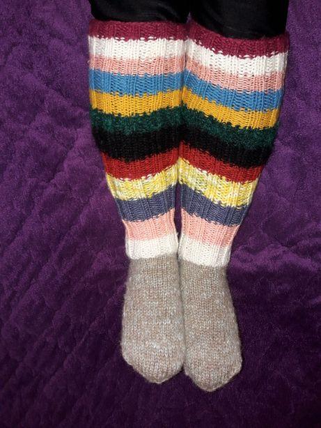 Гетры носки новые ручной работы