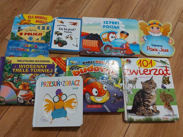 Książki zestaw przesuń i zobacz pociągi zwierzęta