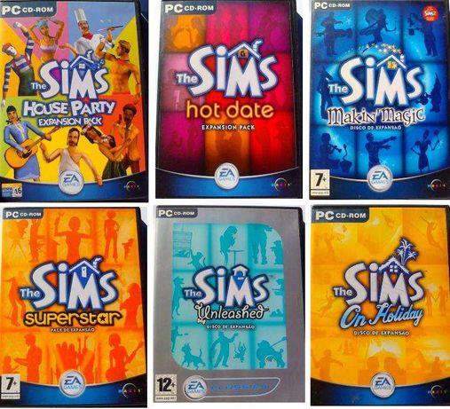 The Sims - 6 Jogos Originais para PC (expansões)