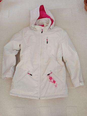 Kurtka zimowa puchową - 70 % Atlas for Women biała różowa roz. 36 38