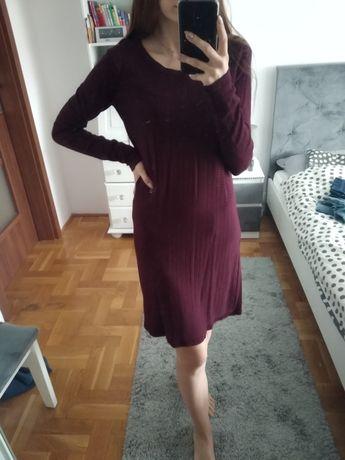 Bordowa sukienka esmara S