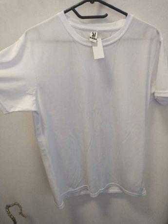 Nowa koszulka biała t-shirt sportowy na wf siłownię s-xxl funkcyjna