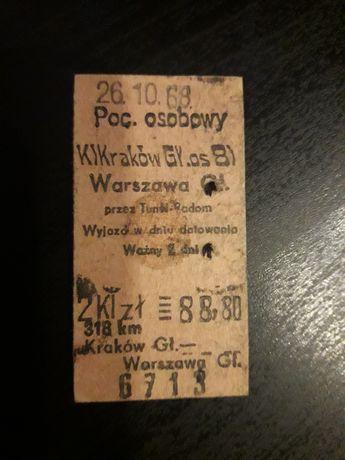 Stary bilet PKP