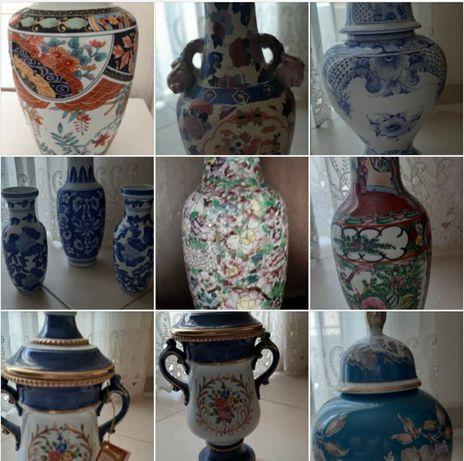 Jarrões e potes antigos porcelana