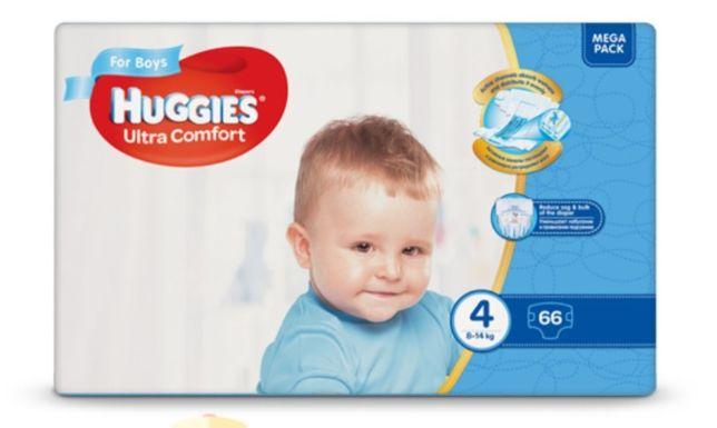 Huggies ultra comfort 4, 66 шт.
