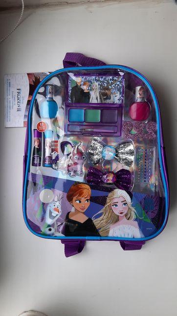 Рюкзак косметичка Disney Frozen Холодное сердце бальзам для губ лак