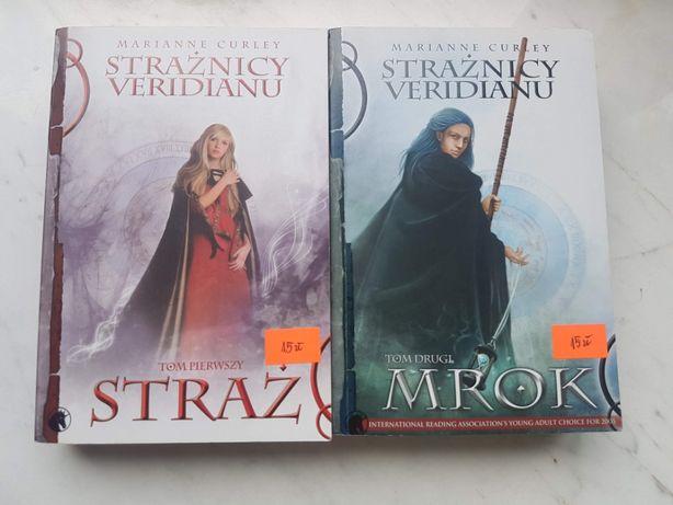 """Książki """"Strażnicy Veridianu"""" """"Straż"""" i """"Mrok"""" Marianne Curley"""