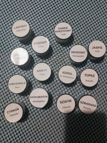 Kolekcja zestawu kamieni półszlachetnych