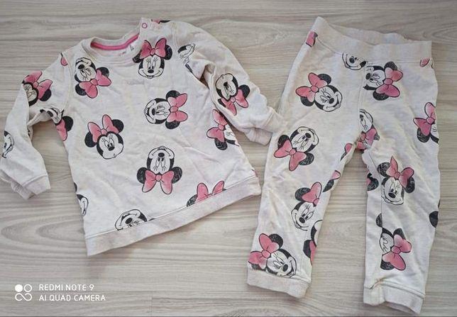 Dresik dres komplet spodnie bluza h&m myszka Minnie 92