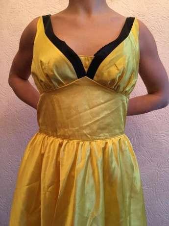 Атласное желтое платье Стиляги