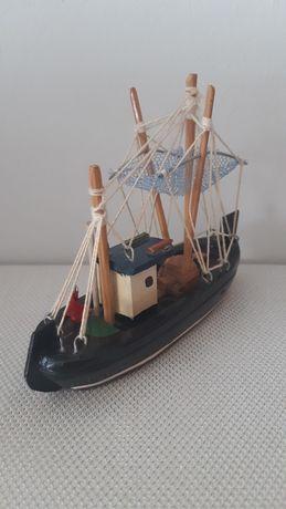 Drewniany model statku ozdoba gabinetowa  na biurko