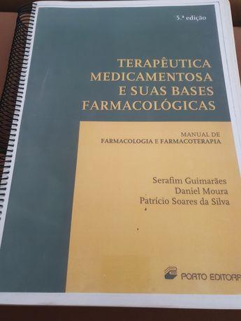 Livro de terapêutica medicamentosa e suas bases farmacológicas.