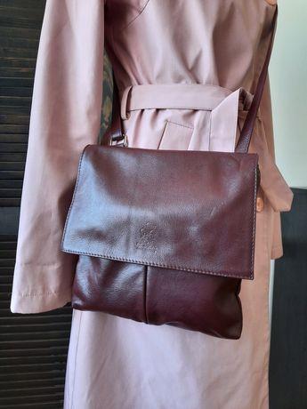Стильна шкіряна сумочка через плече Vera Pele Genuine Leather
