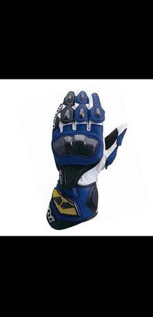 Rękawice motocyklowe skórzane sportowe