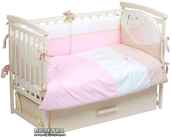 Комплект постельного белья putti starry night 6 эл. розовый